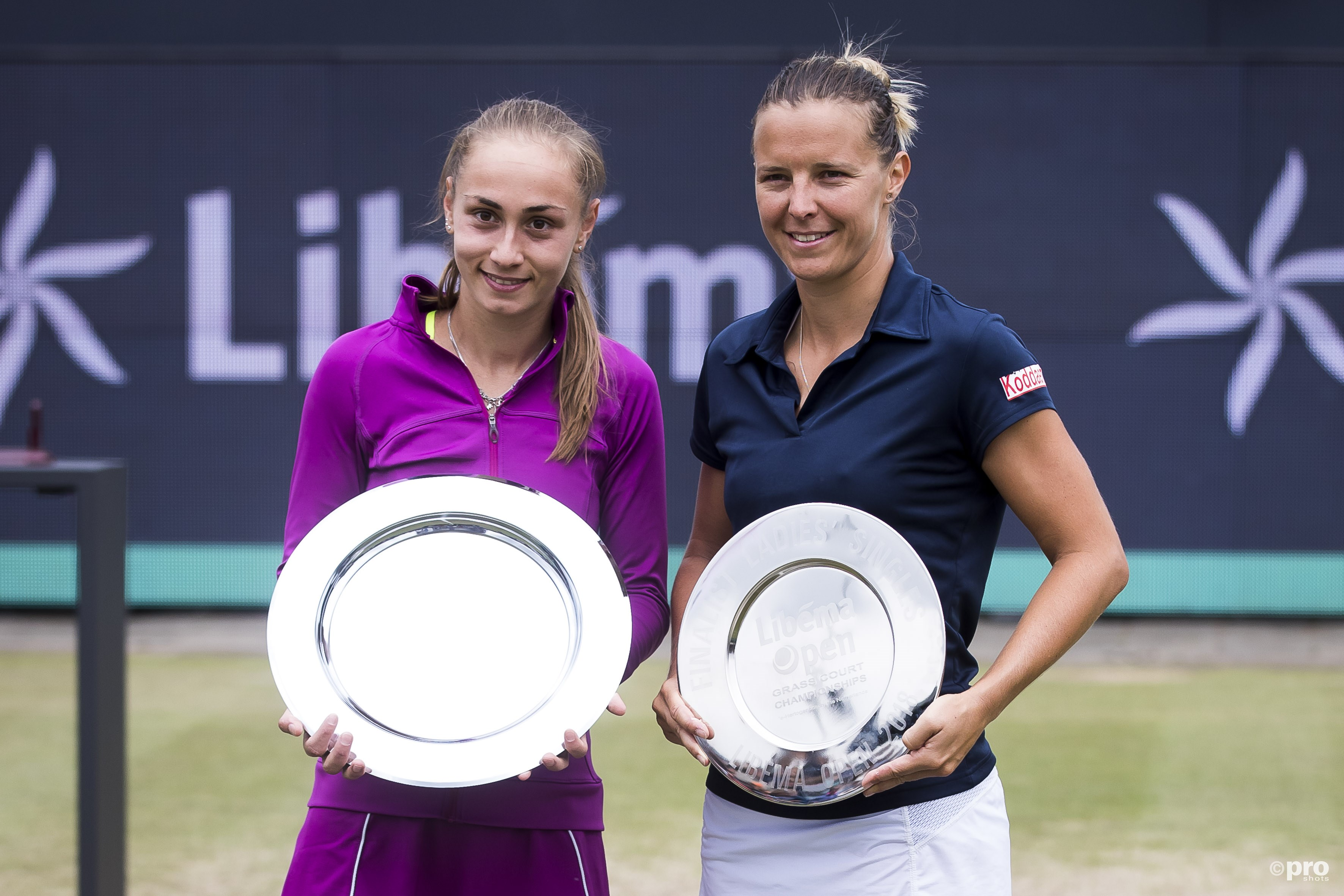 Aleksandra Krunic won de finale van Kirsten Flipkens. (PRO SHOTS/Joep Leenen)