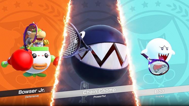 Mario Tennis Aces Karakters