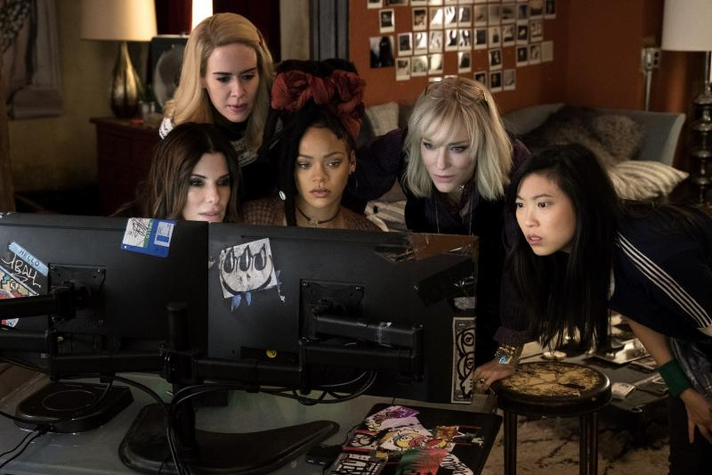 Ocean's 8: Sandra Bullock, Sarah Paulson, Rihanna, Cate Blanchett en Awkwafina