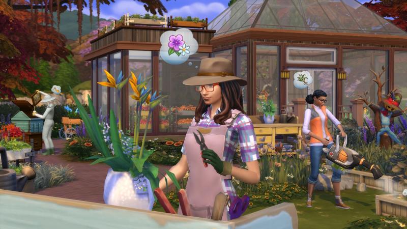 De Sims 4 Jaargetijden - Tuinier (Foto: Electronic Arts)