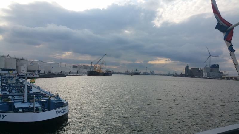 Interpretatie is aangemeerd in de haven van Antwerpen