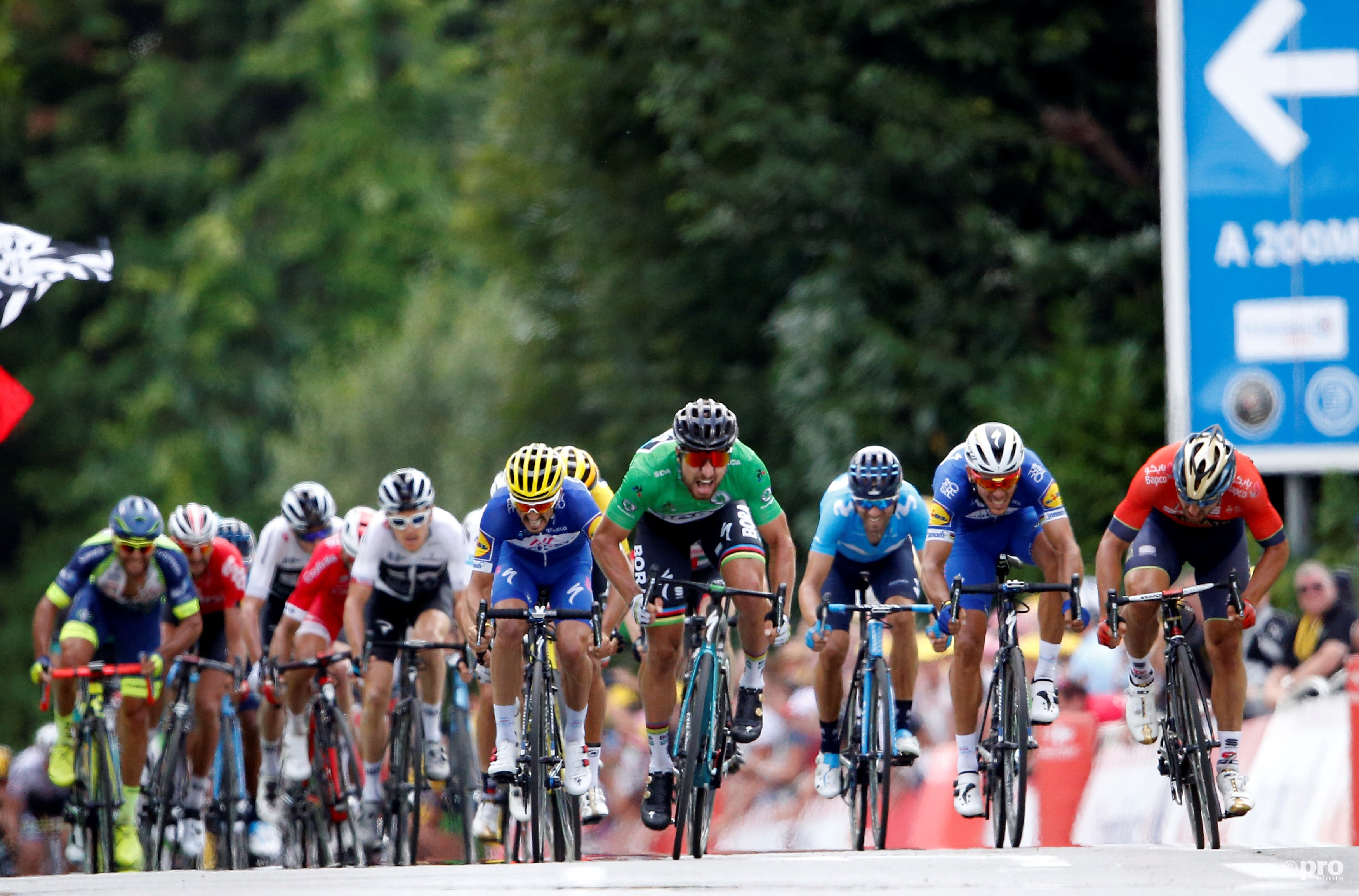 Sagan wint tweede rit in Tour de France (Pro Shots / Action Images)