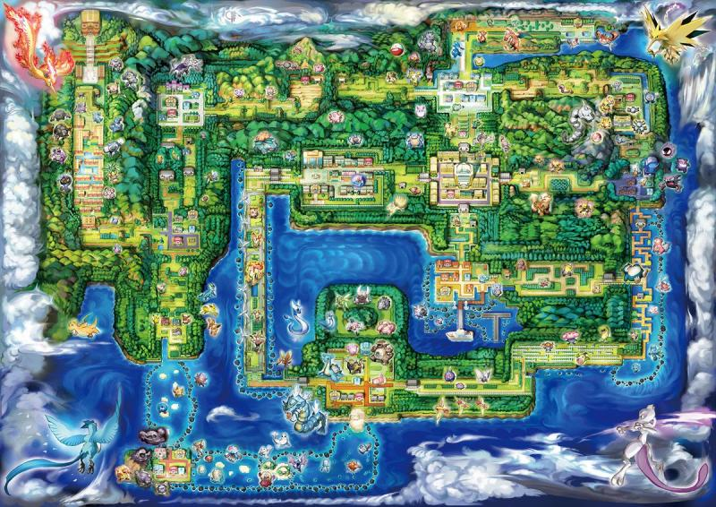 Pokemon Switch Kanto Map