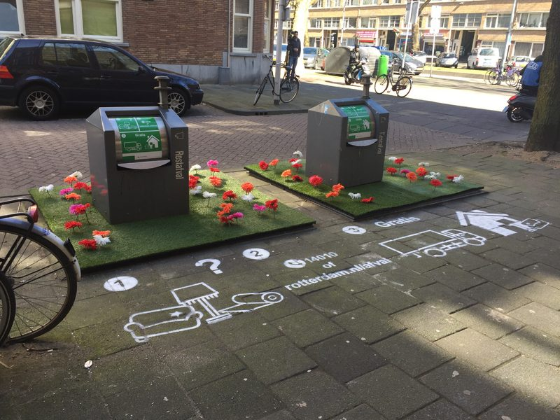 Groene containers verminderen zwerfafval met 85% (Foto: Gemeente Rotterdam)