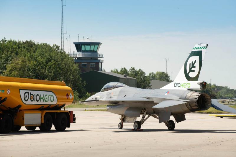 F-16 vliegt prima op frituurvet (Foto: Defensie.nl)