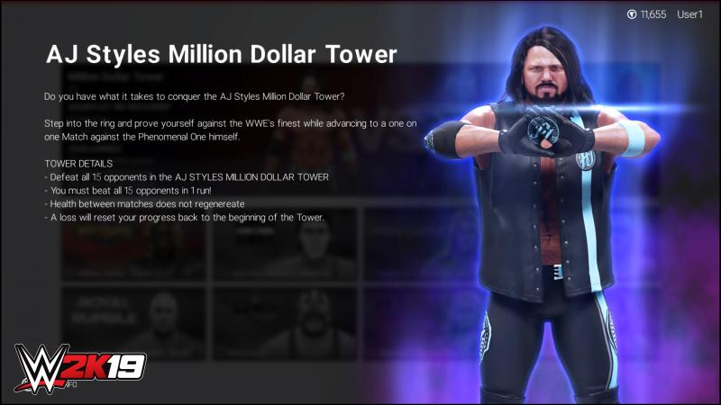 WWE 2K19 - Tower AJ Styles (Foto: 2K Games)