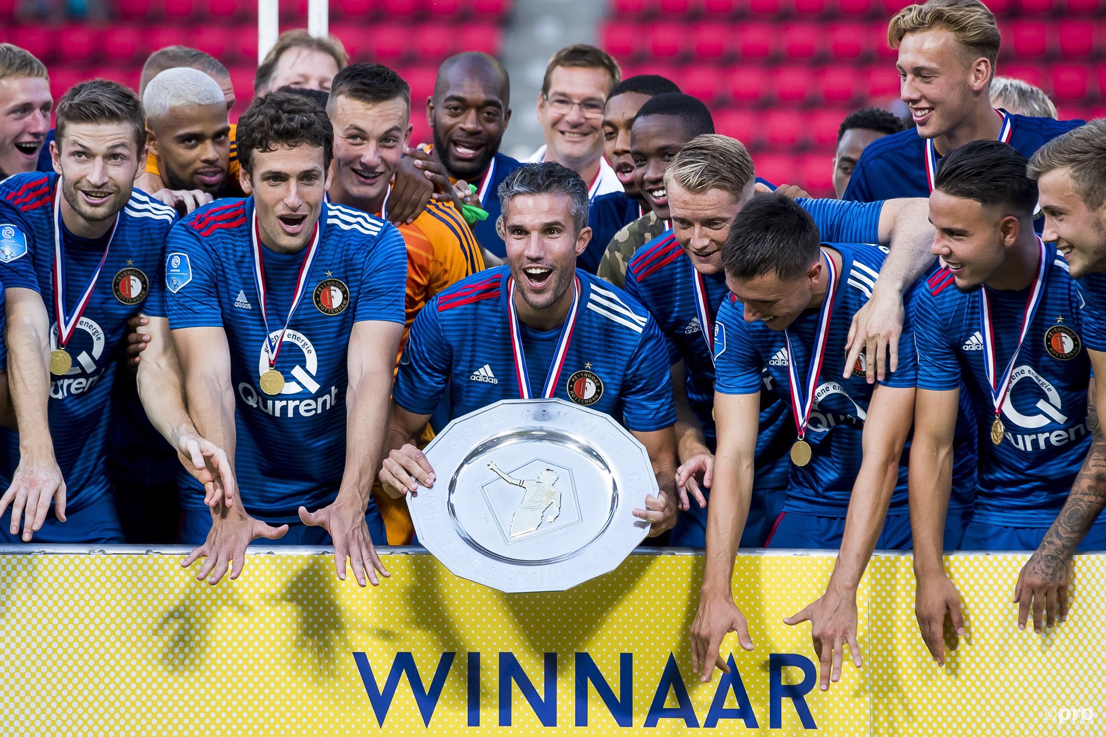 Feyenoord wint de Johan Cruijff Schaal. (PRO SHOTS/Joep Leenen)
