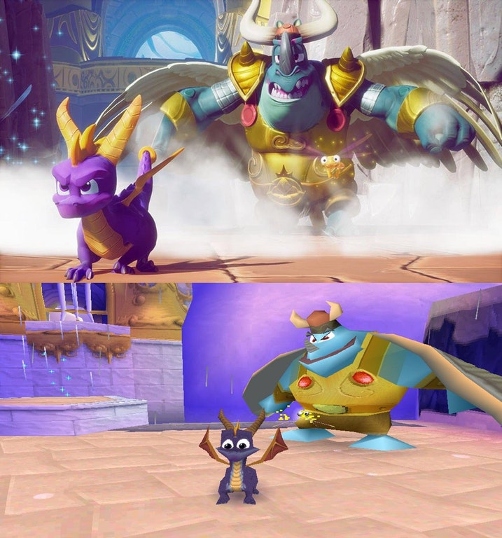 Spyro 3 Reignited Trilogy Comparison