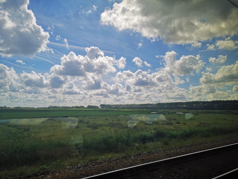 Mijn uitzicht onderweg verschilde niet veel met dat van Interpretatie aan boord  (Foto: DJMO)
