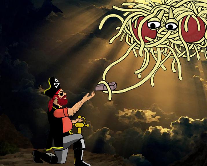 Pech voor Pastafari: het is geen godsdienst (Foto: Wikimedia Commons / Osado)