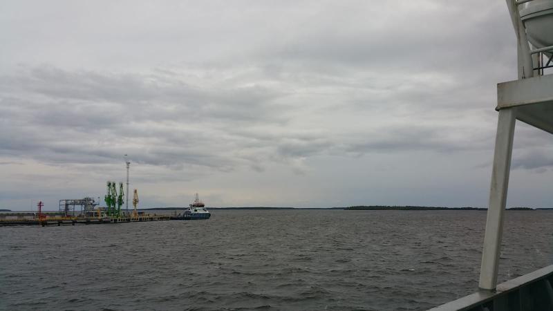 Het is bewolkt en het miezert in Tornio (Finland)  (Foto: interpretatie)