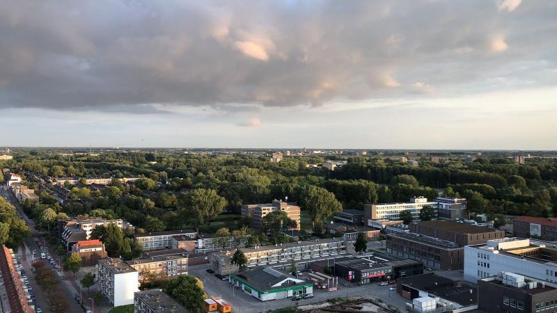 Dreigende regen boven Rotterdam  (Foto: Anoniem)