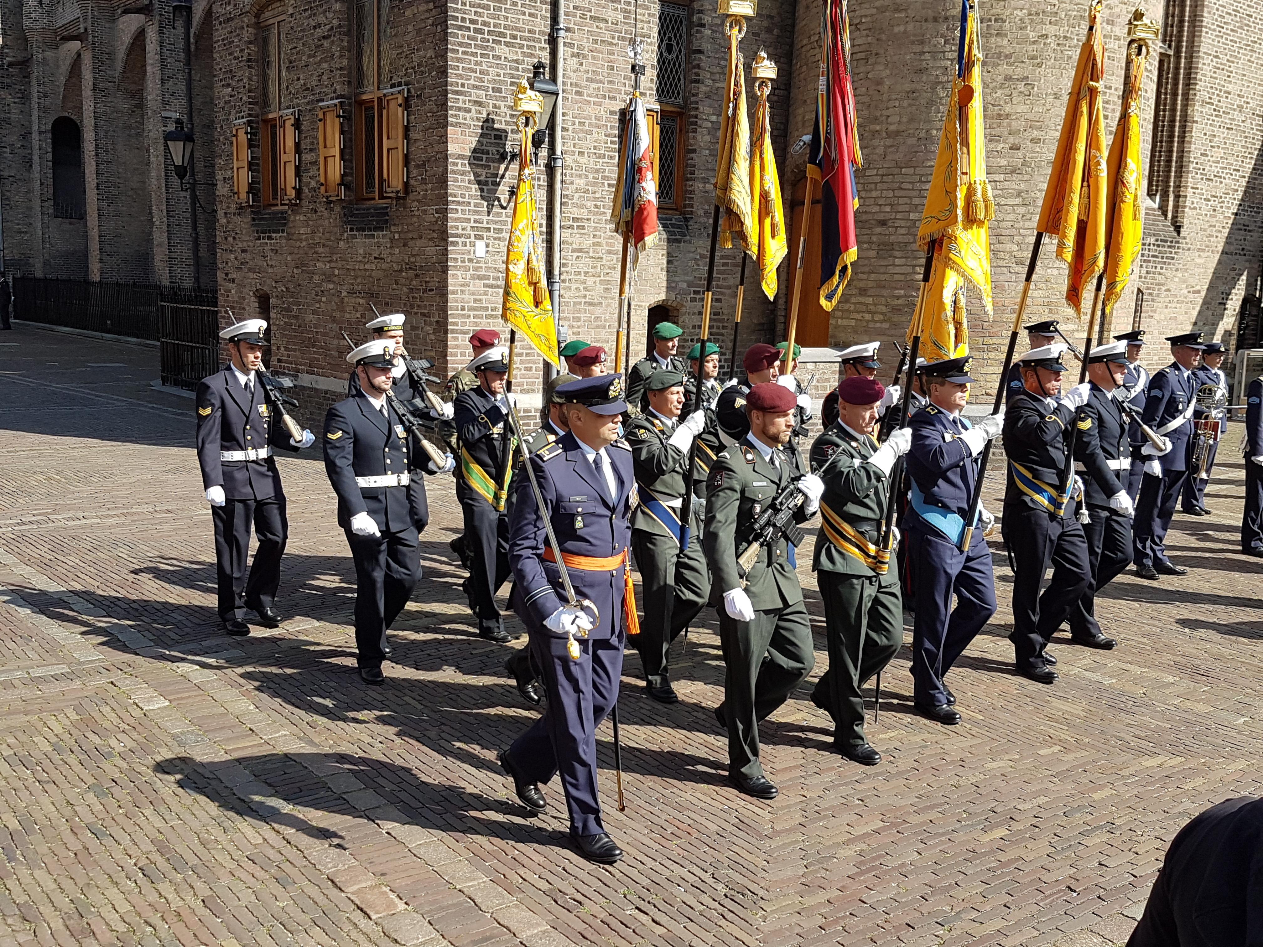 De vaandels van de onderdelen die een Militaire Willems-Orde hebben ontvangen