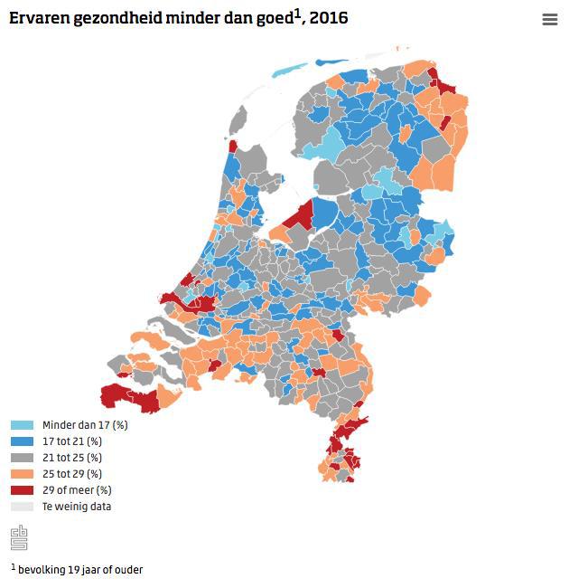 Kwart Nederlanders vindt eigen gezondheid slecht  (Foto: Centraal Bureau voor de Statistiek)