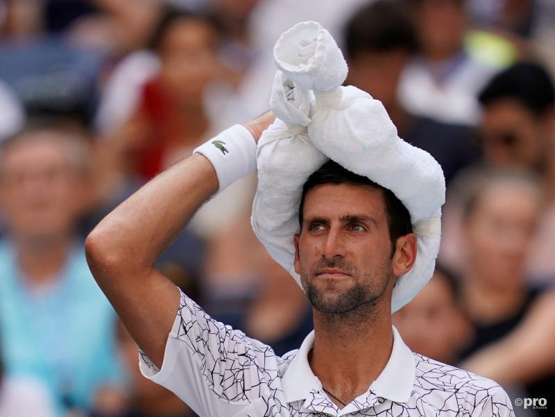 We troffen Novak Djokovic zo aan tijdens de US Open, wat is hier gaande? (Pro Shots / Action Images)
