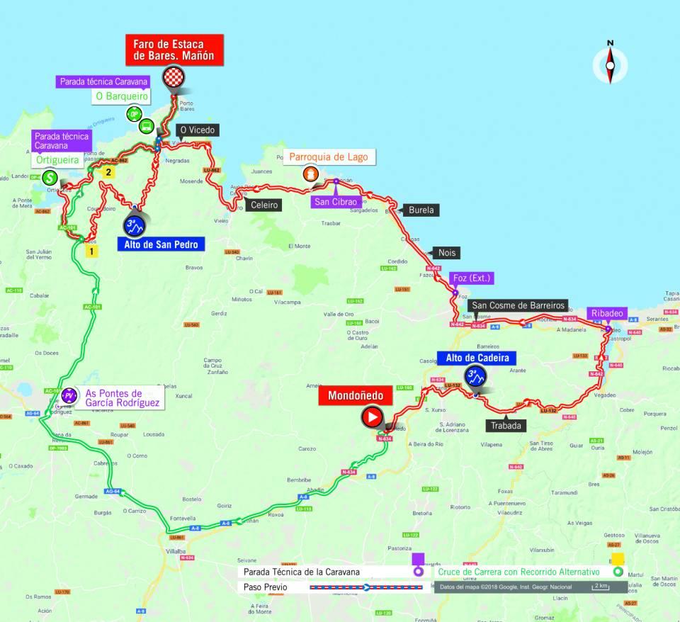 De route van vandaag (Bron: La Vuelta)