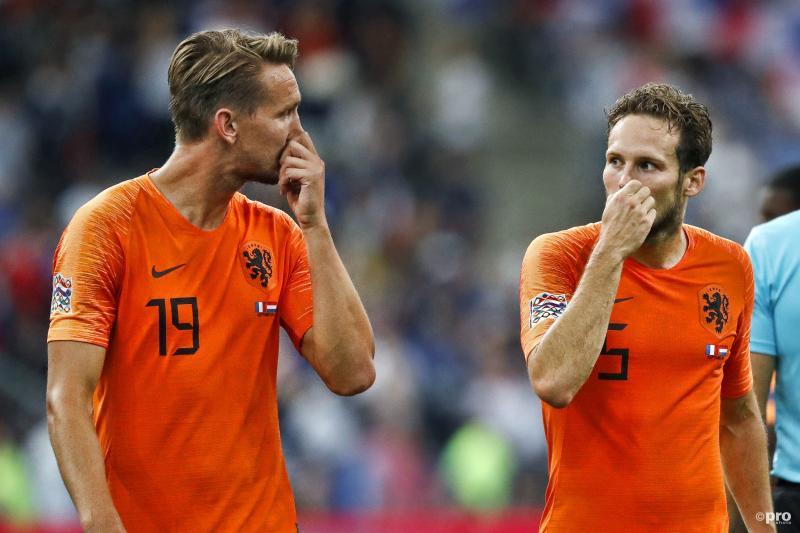 Luuk de Jong en Daley Blind lopen er nogal opvallend bij na de interland tegen Frankrijk, wat is hier gaande? (Pro Shots / Stanley Gontha)