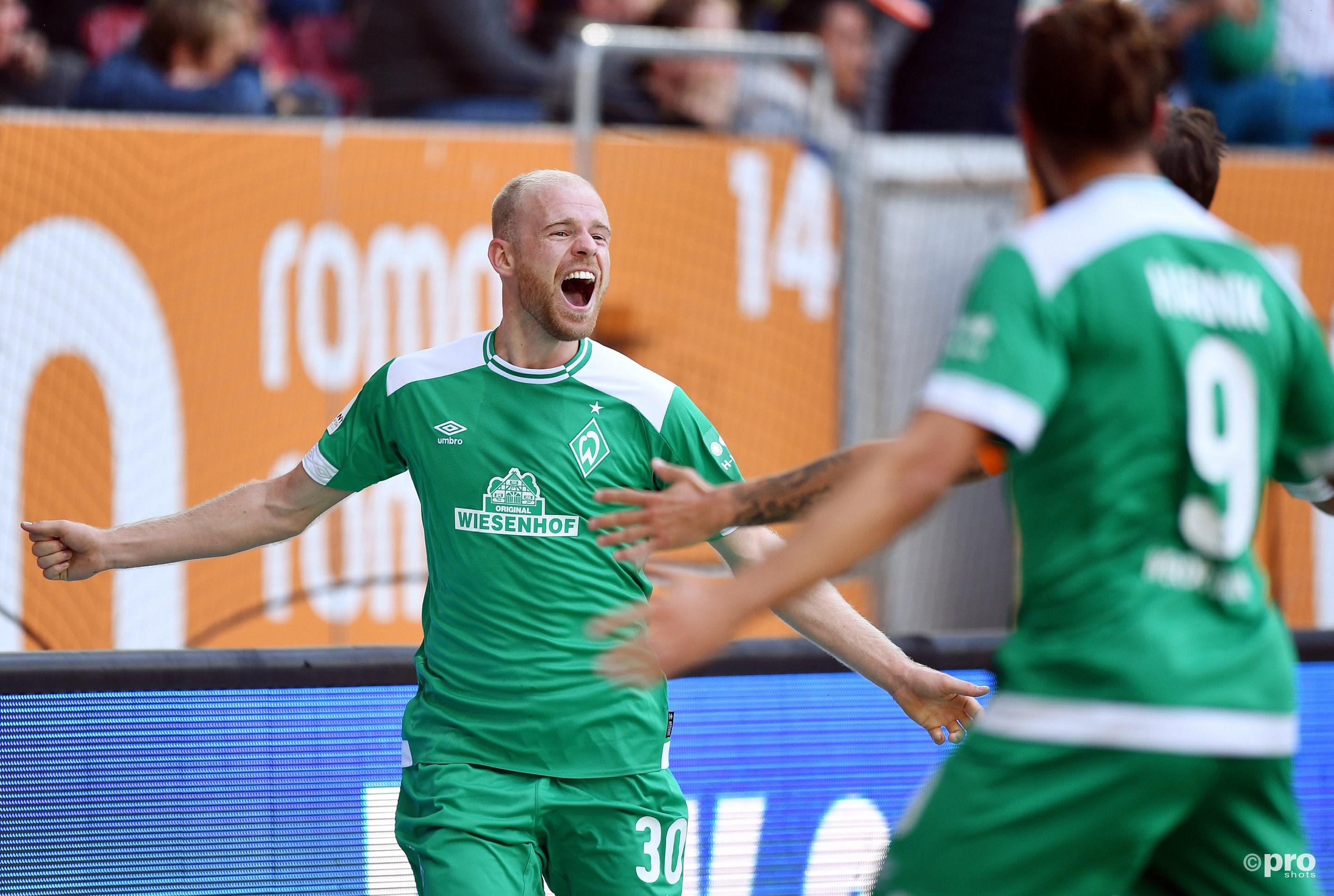 Davy Klaassen scoort voor het eerst van Werder Bremen. (PRO SHOTS/Witters)