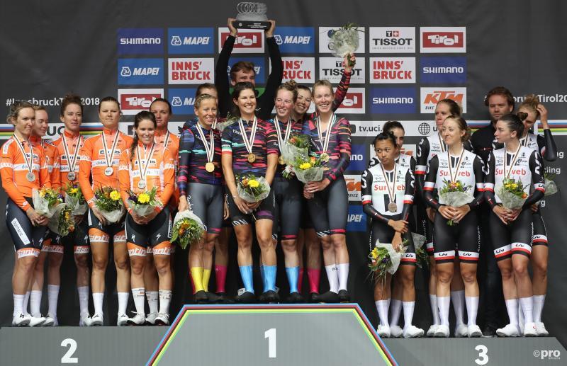 Canyon SRAM Racing te sterk voor Nederlandse ploegen op WK ploegentijdrit (Pro Shots / Gepa)