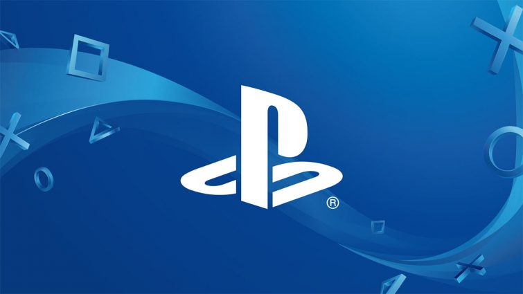 Sony PS blue background