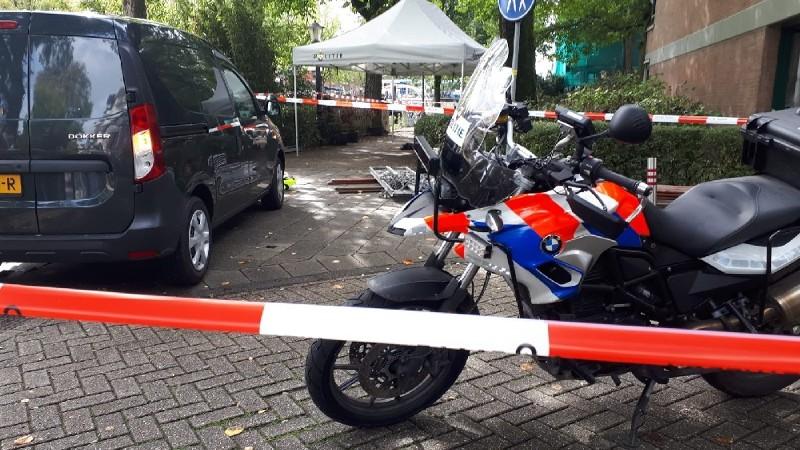 Motoragent schiet verdachte neer (Foto: Politie.nl)