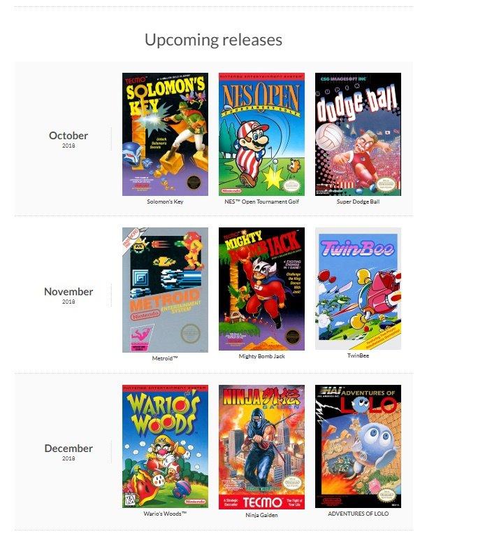 Switch Online NES titels