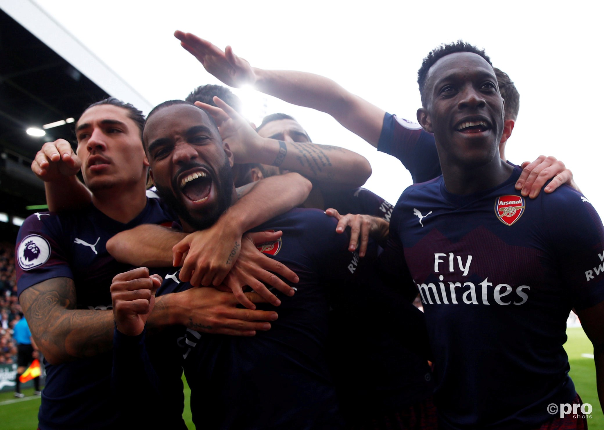 Arsenal wint ook van Fulham. (PRO SHOTS/Action Images)