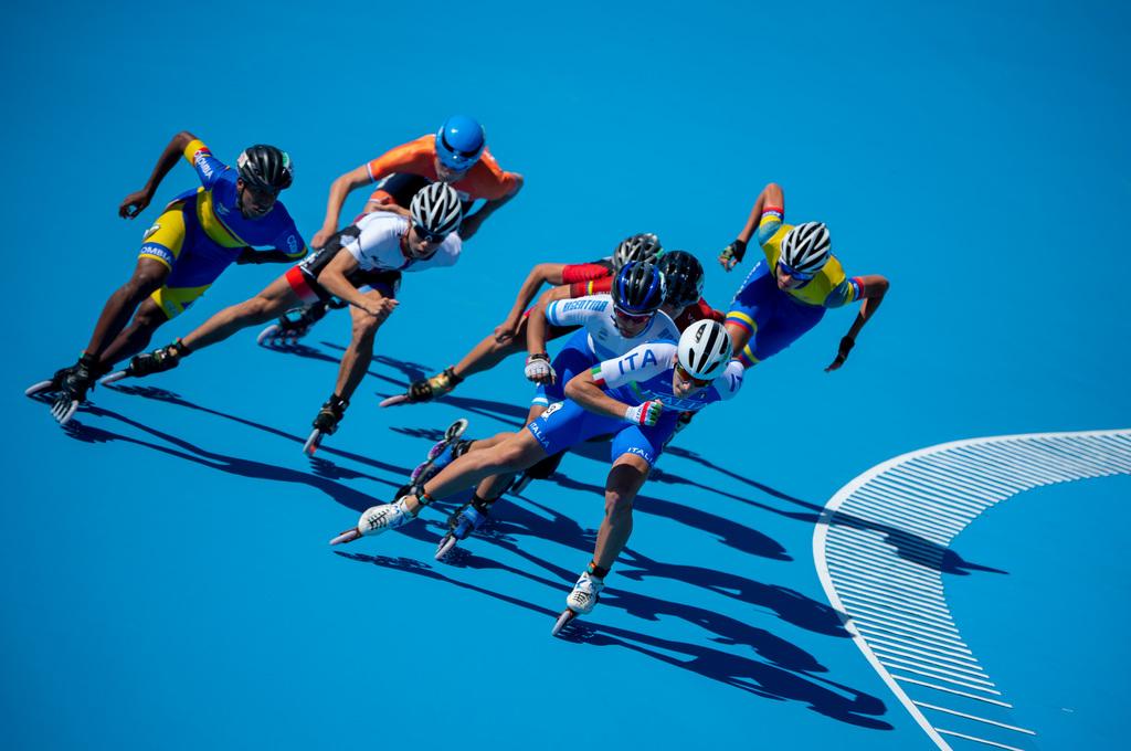Merijn Scheperkamp strijdt in de finale van de 1000 meter (Thomas Lovelock for OIS/IOC)