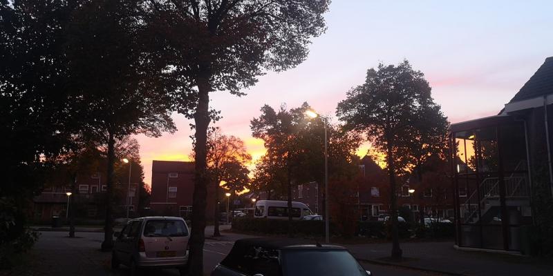Ondergaand zonnetje in Alkmaar (Foto: DJMO)
