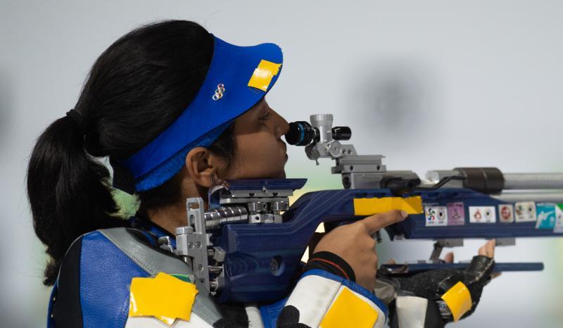Mehuli Ghosh gaf het goud op uiterst zure wijze uit handen (Kate Green for OIS/IOC)