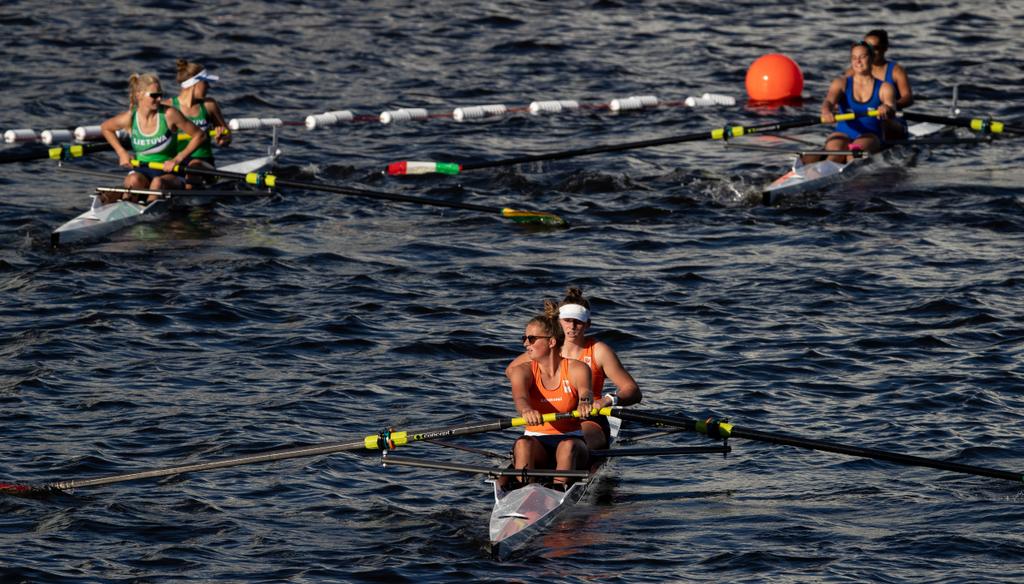Roeisters Iris Klok en Jesy Vermeer eindigden buiten de medailles (Ivo Gonzalez for OIS/IOC)