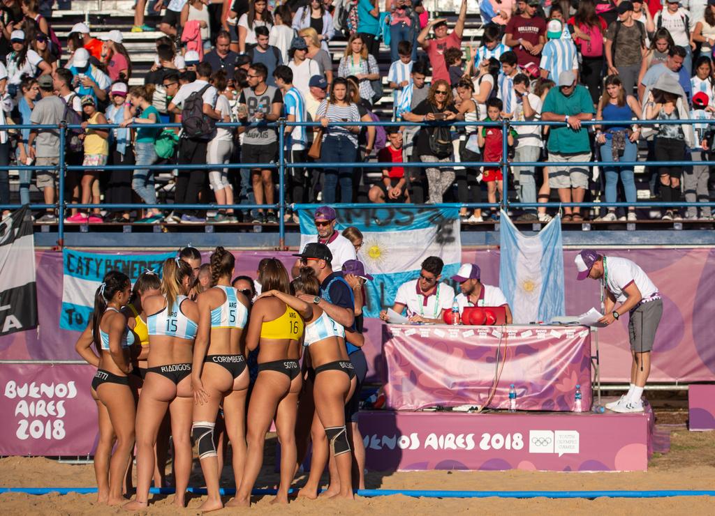 Het strandhandbal is populair bij de fans in Buenos Aires (Florian Eisele for OIS/IOC)