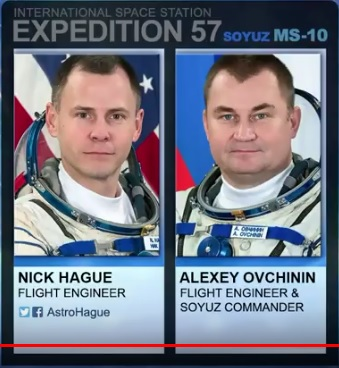 Aleksej Ovtsjinin en Nick Hague (Foto: NASA)