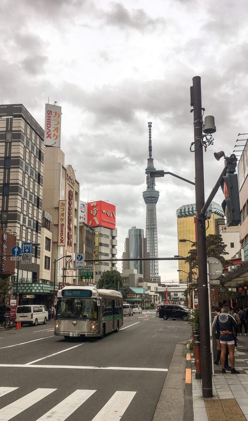 Hoe-die-nie is samen met Semtex in Tokio/Japan. Het is daar ook zonnig (behalve nu) en ruim 25 graden (Foto: Hoe-die-nie)