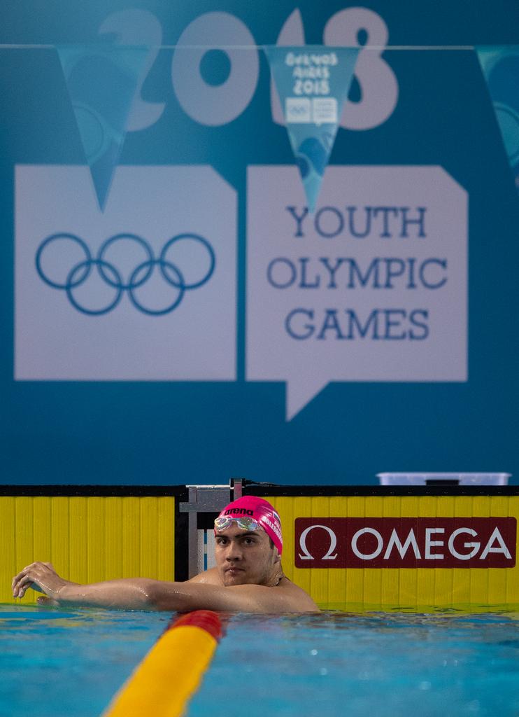 Kliment Kolesnikov, de grote ster van het zwemtoernooi (Jonathan Nackstrand for OIS/IOC)