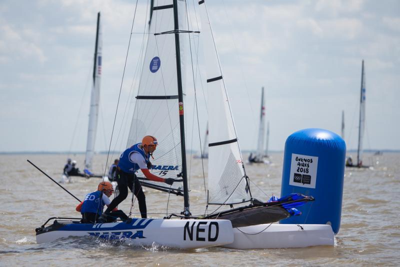 Van der Meer en Bouwer in actie in de medalrace (Gabriel Heusi for OIS/IOC)