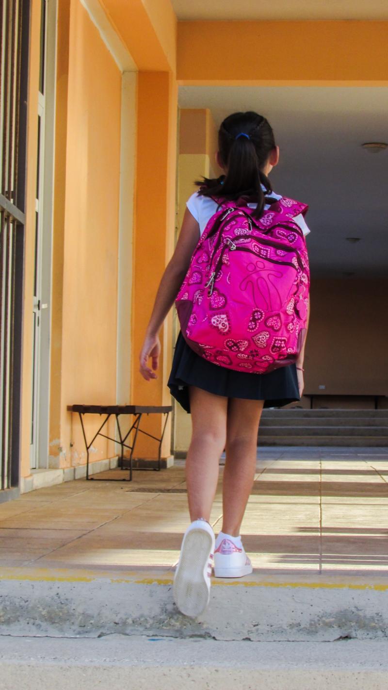 45% brugklassers heeft een te zware schooltas (Stockfoto PXhere)