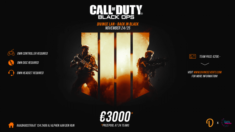 Call of Duty: Black Ops 4 – toernooi