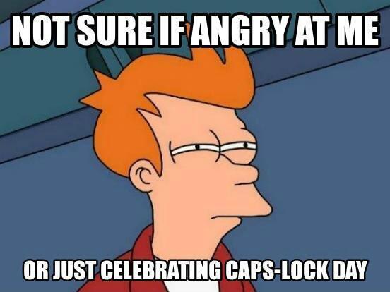 Caps-lock day