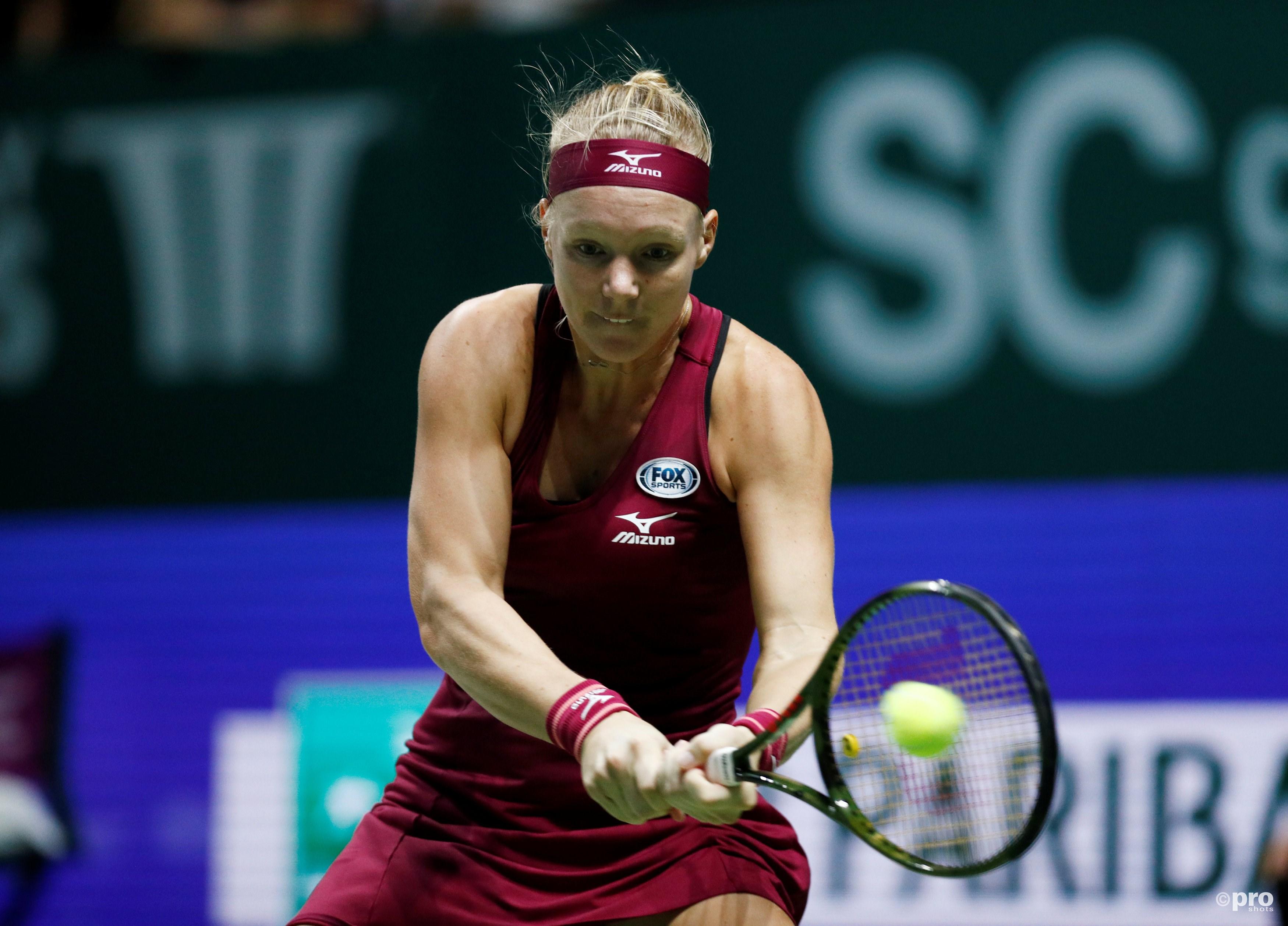 Bertens naar halve finale WTA Finals na opgave Osaka (Pro Shots / Action Images)