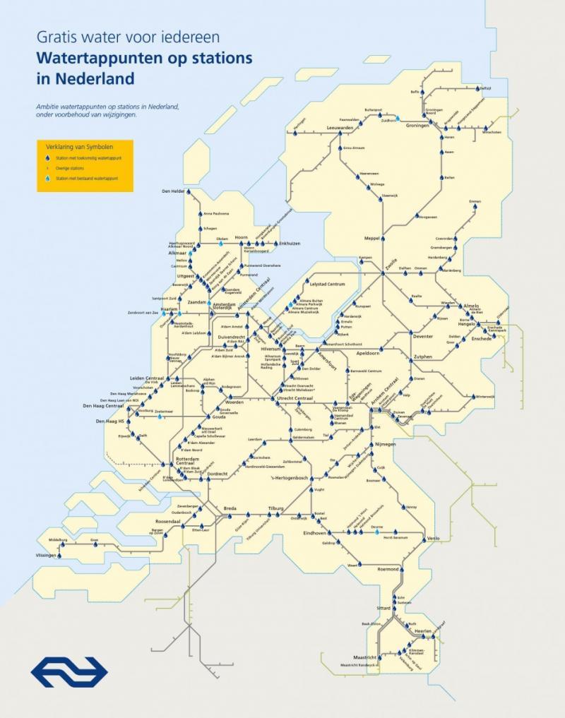 Eerste watertappunt NS geopend op station Alkmaar (Foto: Nederlandse Spoorwegen)