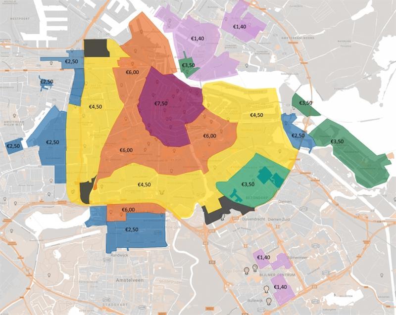 Parkeren wordt fors duurder in Amsterdam (afbeelding: Gemeente Amsterdam)