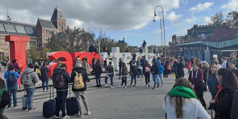 De i Amsterdam letters in vervlogen tijden (Foto: FOK!)