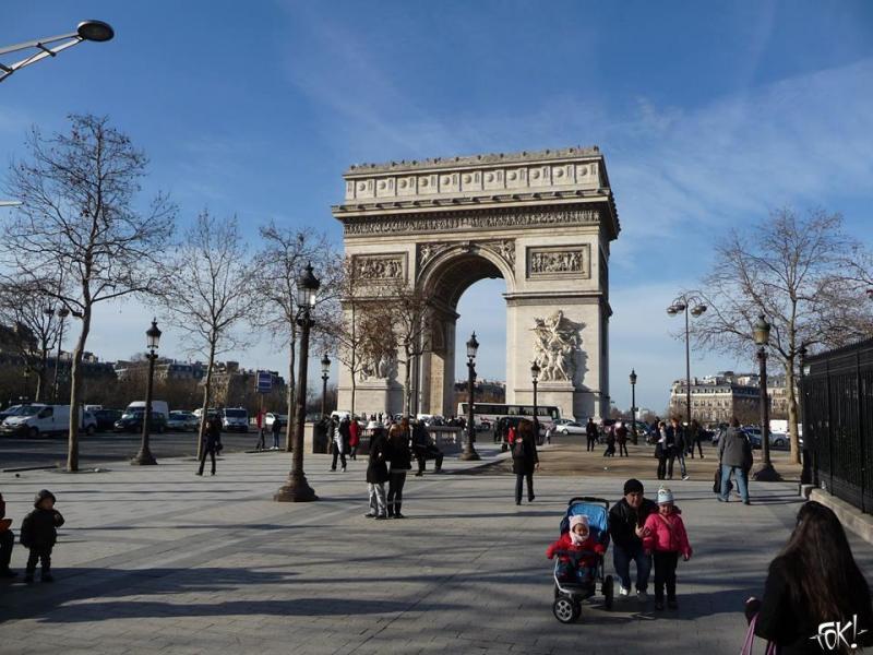 De Arc de Triomphe in Parijs (Foto: Privé)
