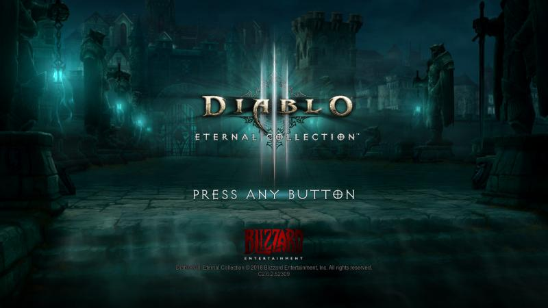 Diablo III Eternal Collection switch