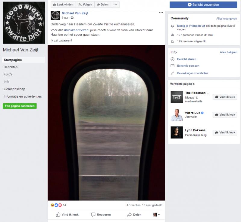 'Michael van Zeijl opgepakt om bedreiging op Social Media'