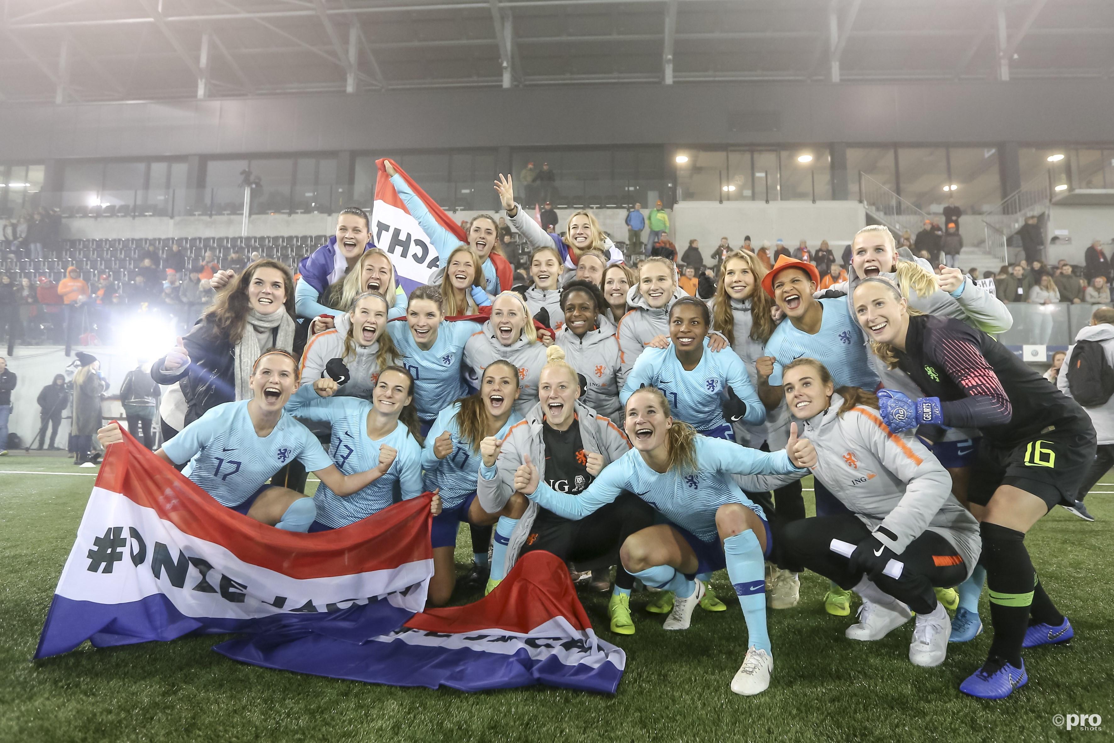 Nederlands elftal naar het WK in Frankrijk. (PRO SHOTS/Remko Kool)