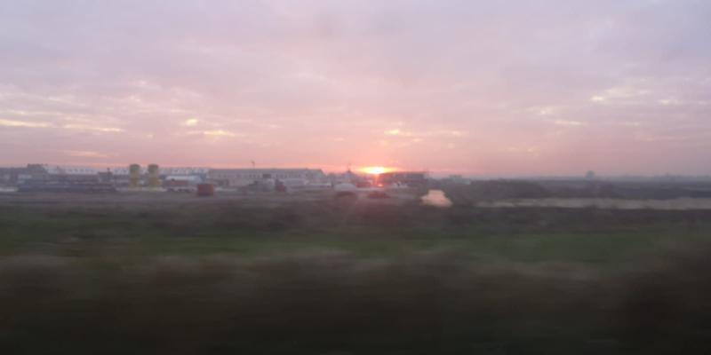 De trein + de zon. (Foto: DJMO)