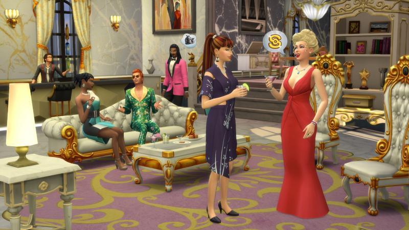 De Sims 4 Word Beroemd - Liefdadigheidfeest (Foto: Electronic Arts)