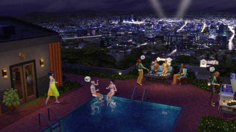 De Sims 4 Word Beroemd -  Skyline (Foto: Electronic Arts)